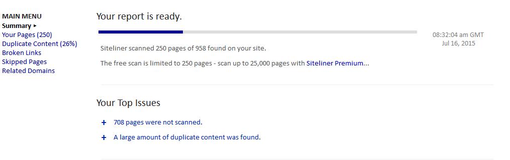 Siteliner инструкция - фото 5