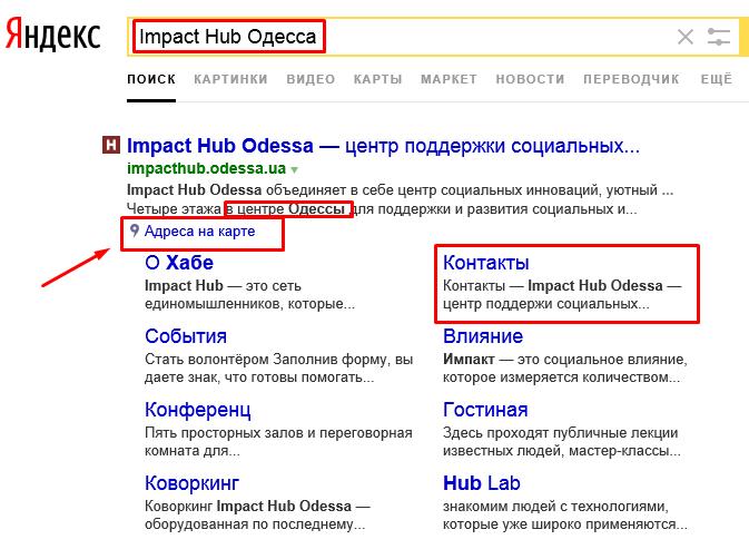 Яндекс сниппет